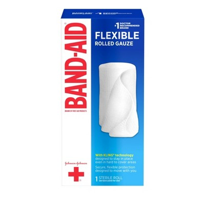 Band-Aid Rolled Gauze - 4 x 2.5 yds