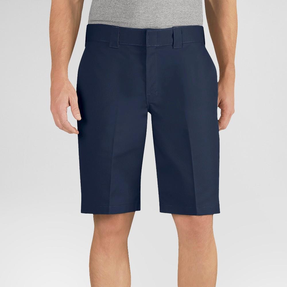 Dickies Men's Big & Tall Relaxed Fit Flex Twill 11 Shorts- Dark Navy 46