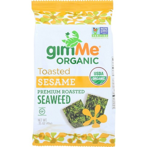 GimMe Organic Toasted Sesame Roasted Seaweed Snacks - 0.35oz/12pk - image 1 of 3