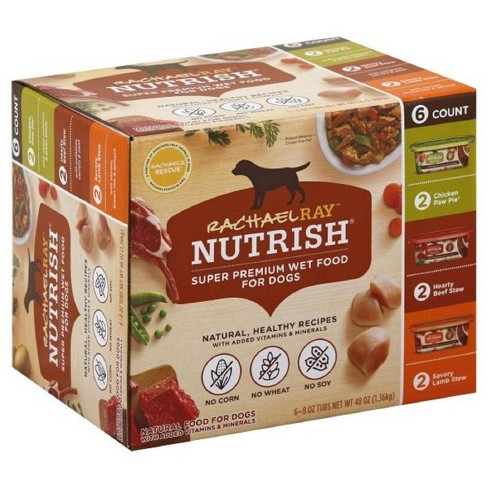Rachael Ray Nutrish Natural Wet Dog Food Variety Pack 8oz - 6ct - image 1 of 4