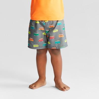 Toddler Boys' Car Swim Trunks - Cat & Jack™ Gray 2T