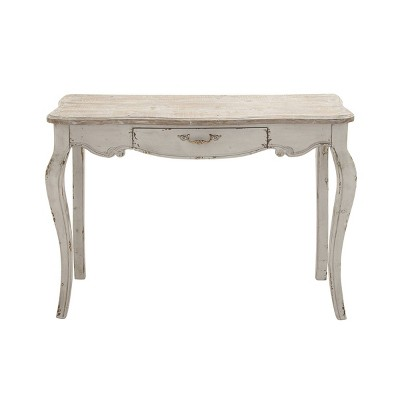 Farmhouse Vintage Console Table White - Olivia & May
