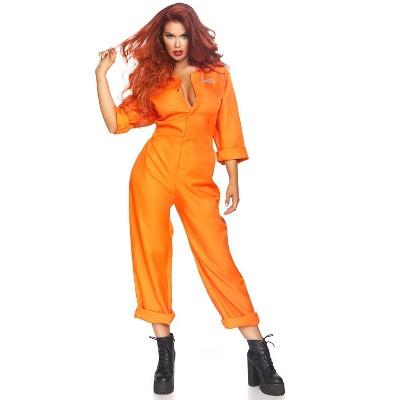 Leg Avenue Women's Prison Jumpsuit Adult Costume