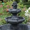 "34"" Budding Fruition 3-Tier Outdoor Water Fountain - Sunnydaze Decor - image 2 of 4"