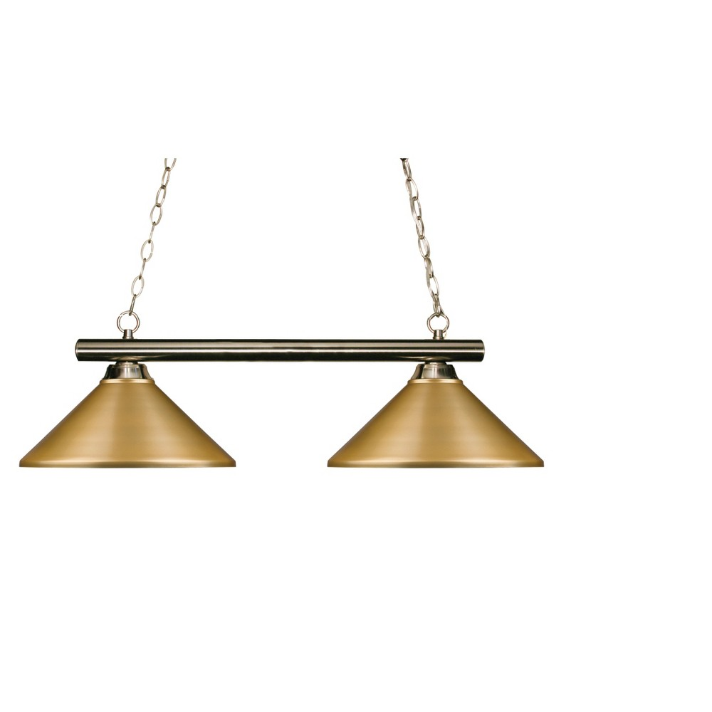 Billiard Ceiling Lights with Satin Gold Glass (Set of 2) - Z-Lite