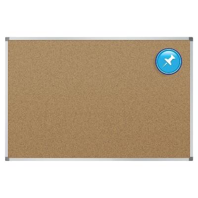 Quartet Cork Bulletin Board Aluminum Frame 3' x 2' (85346) 168493