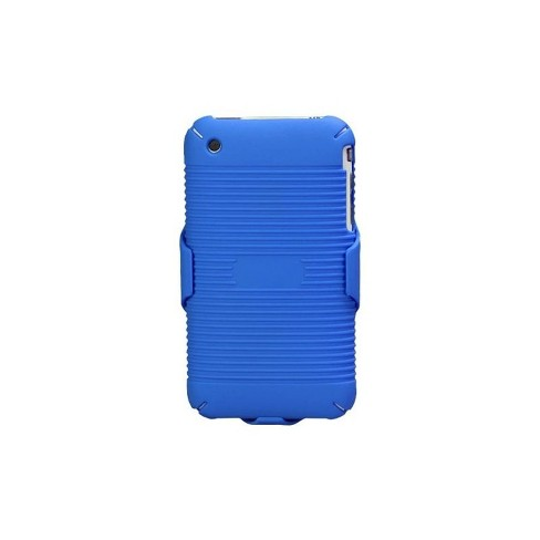 MYBAT For Apple iPhone 3G/3GS Blue Hard Rubberized Case Holster - image 1 of 4