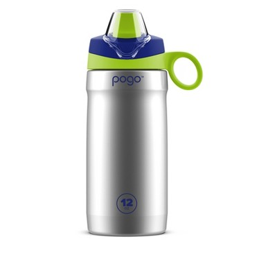 Pogo 12oz Vacuum Insulated Stainless Steel Kids' Water Bottle
