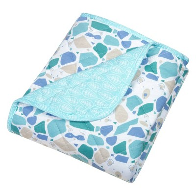 Trend Lab Reversible Baby Quilt - Terrazzo Forest