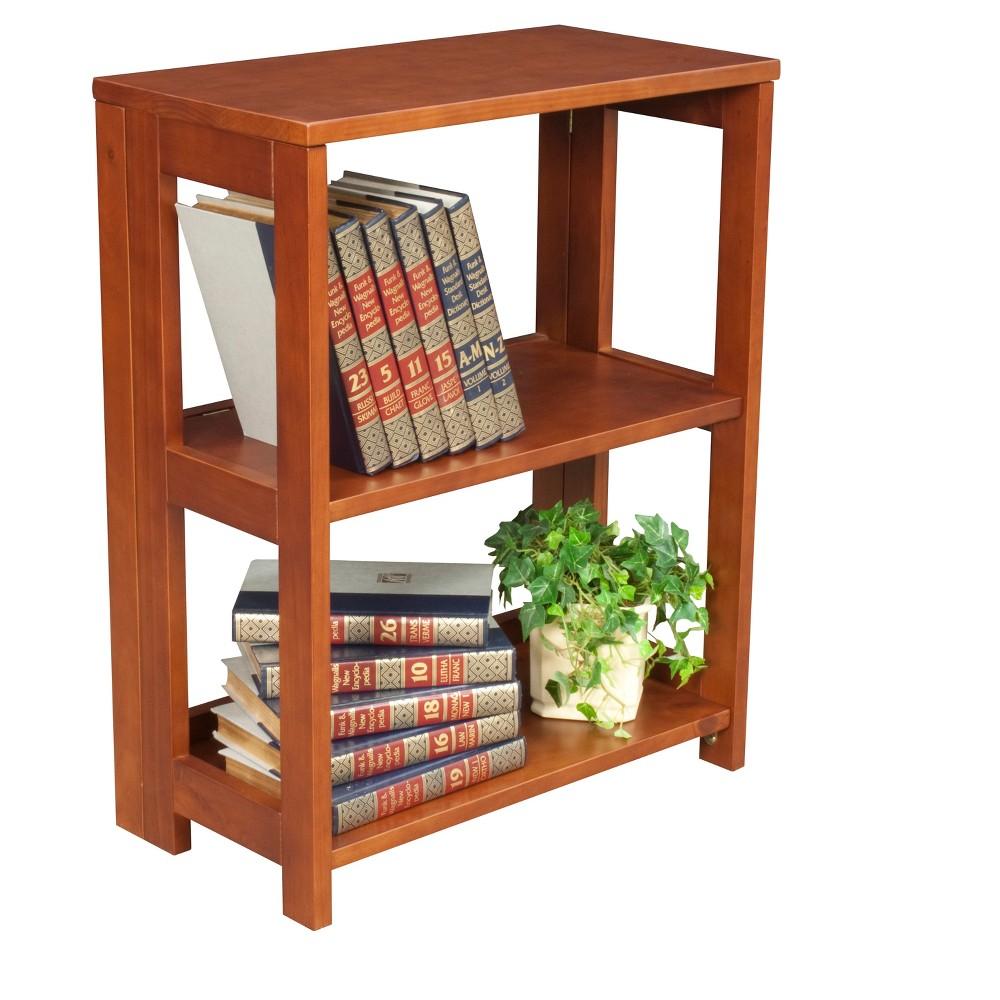 "Image of ""Flip Flop 28"""" High Deskside Folding Bookcase Cherry - Niche, Red"""