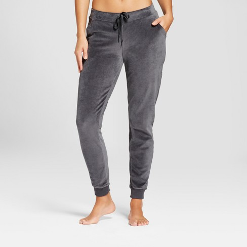 Women's Velour Pajama Pants - Xhilaration™ Charcoal - image 1 of 2