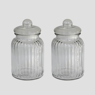 2pk Glass Jars - Bullseye's Playground™