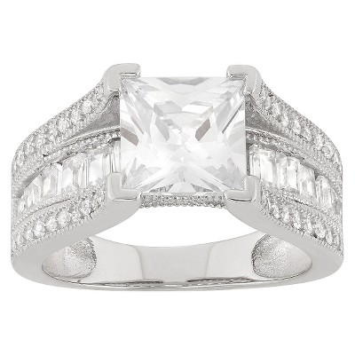 4.27 CT. T.W. Cubic Zirconia Ring In Sterling Silver