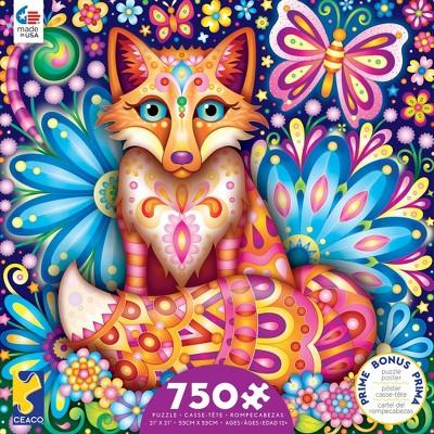 Ceaco Groovy Animals: Fox Puzzle 750pc