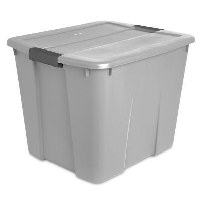 20gal Latching Utility Storage Tub Gray - Room Essentials™