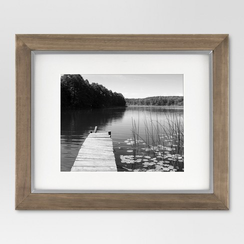 Single Picture Frame 11X14 Brown - Threshold™ - image 1 of 4