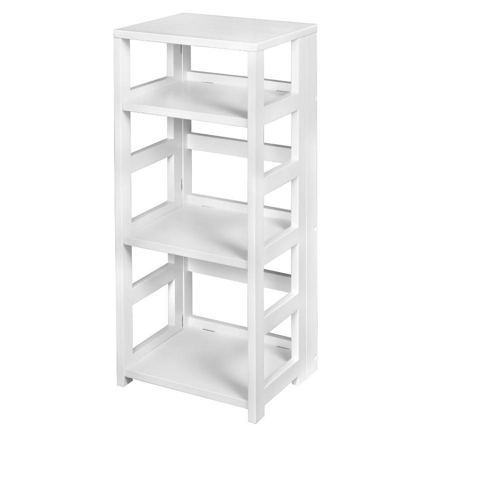 "Image of ""34"""" Flip Flop High Square Folding Bookcase White - Niche"""