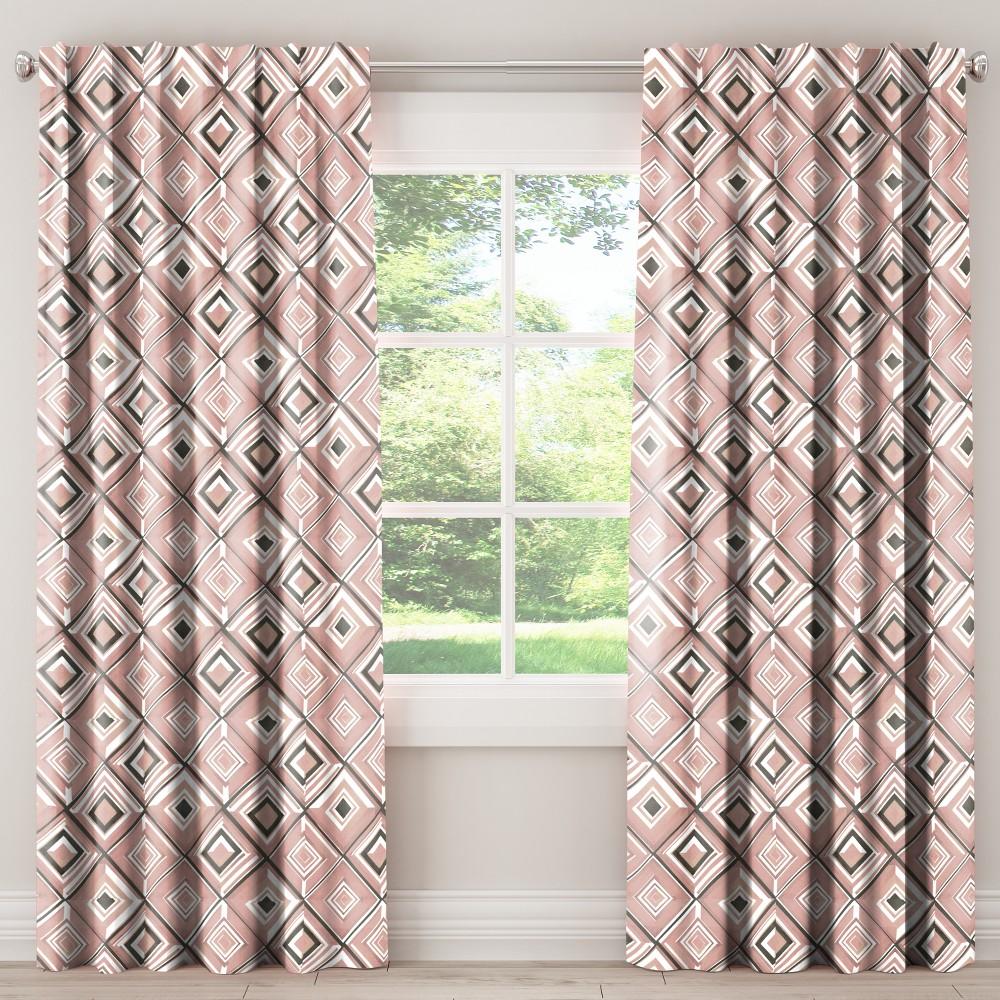 Blackout Curtain Diamond Watercolor Pink 84l Skyline Furniture