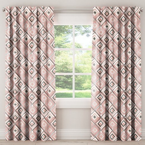 Blackout Curtain - Diamond Watercolor Pink - image 1 of 6
