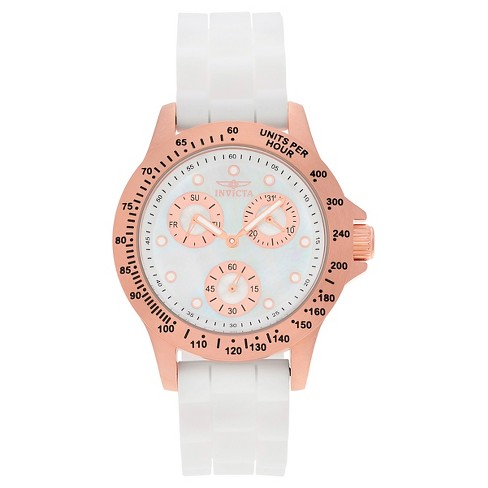 Women's Invicta 21995 Speedway Quartz Chronograph White Dial Strap Watch - White - image 1 of 3