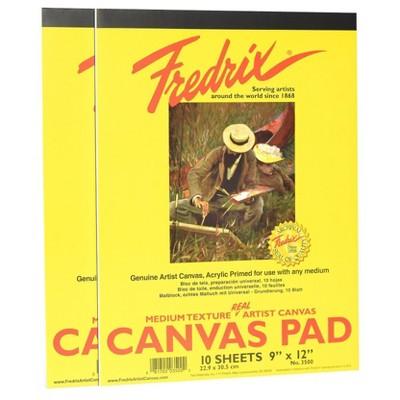 "Fredrix Canvas Pads, 9 X 12"" - 2pk"