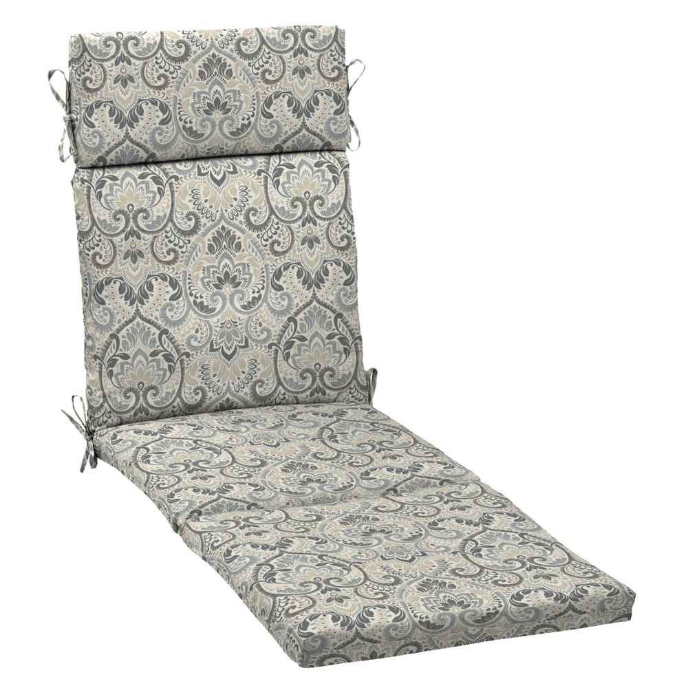 Arden Selections 29 5 34 X 21 34 Aurora Damask Outdoor Chaise Lounge Cushion Neutral