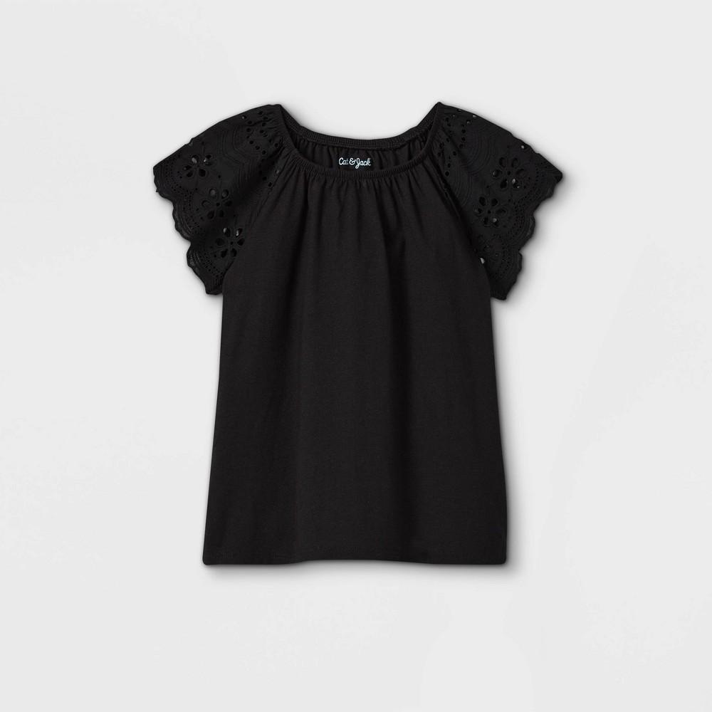 Girls 39 Eyelet Short Sleeve T Shirt Cat 38 Jack 8482 Black Xs