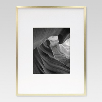 8 x10  Metal Single Image Matted Frame Brass - Project 62™