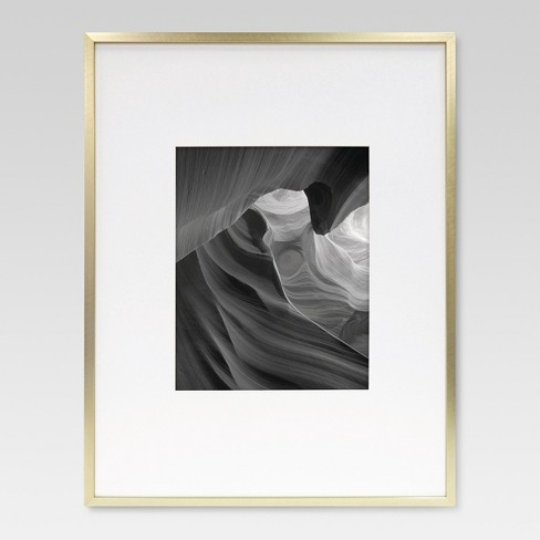 Metal Single Image Matted Frame 8X10 - Brass - Project 62™ : Target