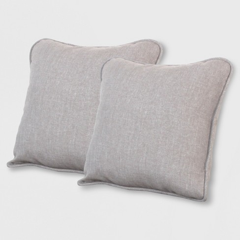 Rolston 2pk Outdoor Accent Pillows Taupe - Grand Basket - image 1 of 1