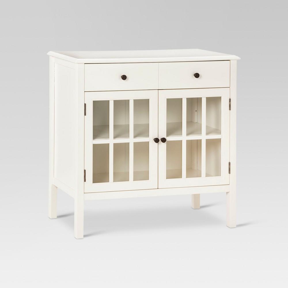 Windham Storage Cabinet with Drawer Shell (White) - Threshold