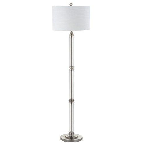 "60"" Ralph Metal/Glass Floor Lamp Brushed Nickel (Includes Energy Efficient Light Bulb) - JONATHAN Y - image 1 of 4"