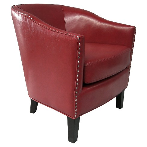 Outstanding Fremont Shaped Barrel Armchair Chili Red Unemploymentrelief Wooden Chair Designs For Living Room Unemploymentrelieforg