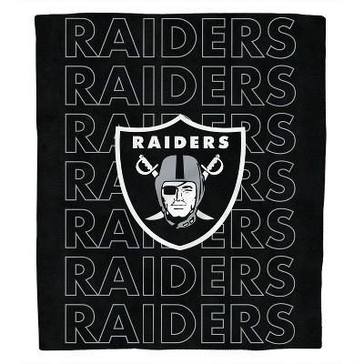 NFL Las Vegas Raiders Echo Team Wordmark Plush Blanket