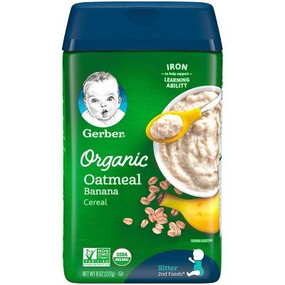 Gerber Organic Banana Baby Cereal - 8oz