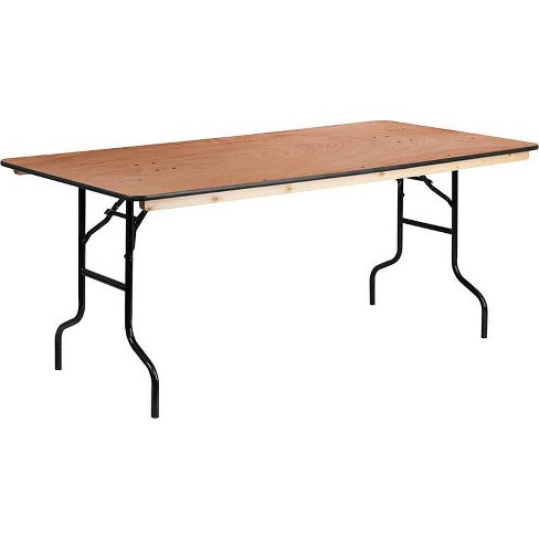 Riverstone Furniture Collection 30x72 Fold Table Natural - image 1 of 4