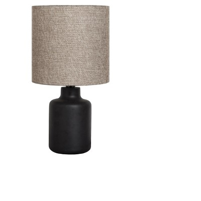 Painted Base Table Lamp Black with Tan Shade (Lamp Only)- Adesso
