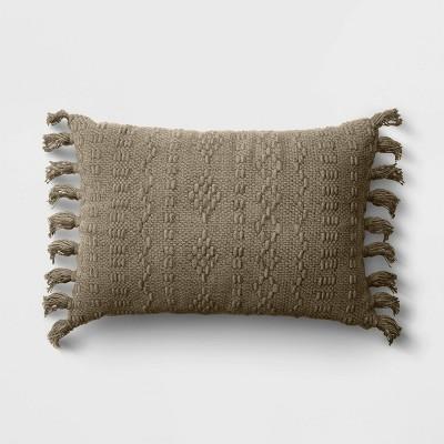 Lumbar Woven Throw Pillow Green - Threshold™