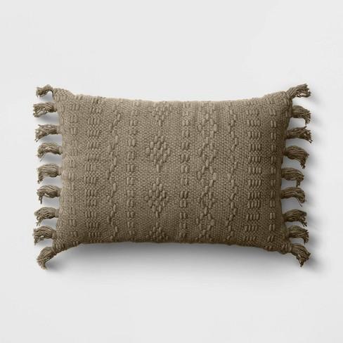 Lumbar Woven Throw Pillow - Threshold™ - image 1 of 4