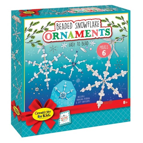 Creativity for Kids Beaded Snowflake Ornaments - image 1 of 4