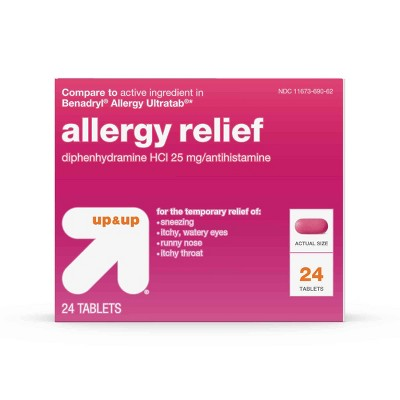 Allergy & Sinus: up & up Allergy Relief (Compare to Benadryl)