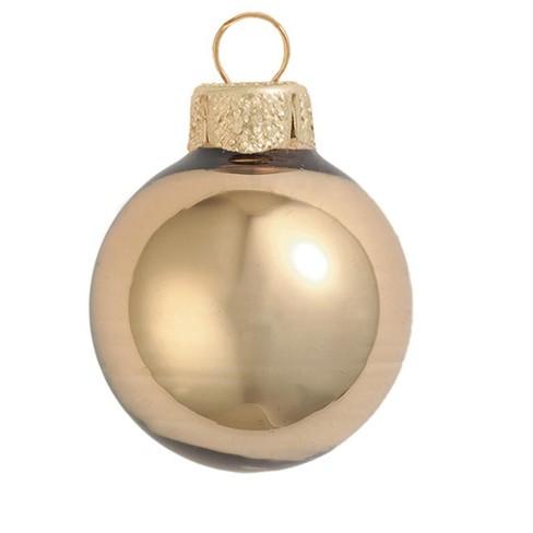 "Northlight 12ct Shiny Glass Ball Christmas Ornament Set 2.75"" - Gold - image 1 of 1"