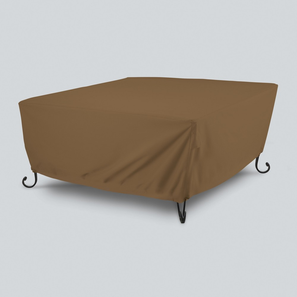 Image of Square Fire Pit Cover - Tan - Threshold , Brown