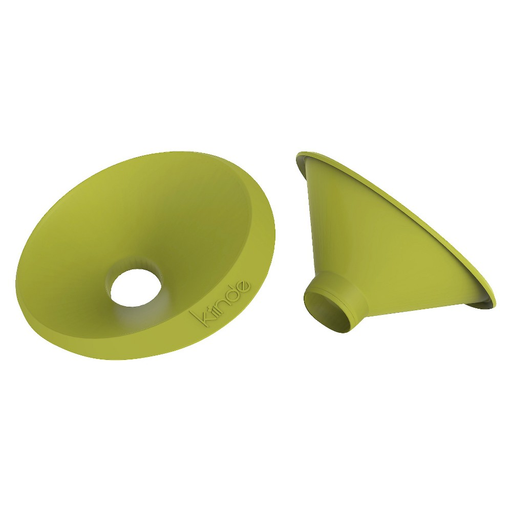 Image of Kiinde 2pk Funnel, Green, baby food pouch tops