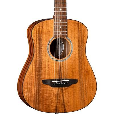 Luna Guitars Safari Solid Koa Top 3/4 Size Acoustic/Electric Guitar Satin Natural