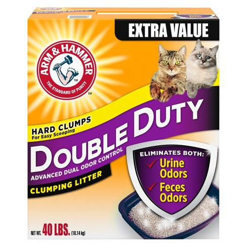 Arm & Hammer Double Duty Advanced Odor Control Clumping Cat Litter - 40lbs - image 1 of 3