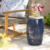 "Ruby 12""  Iron Side Table - Dark Blue - Christopher Knight Home - image 2 of 4"