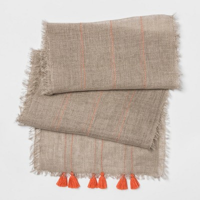 108 x14  Stripe Runner Natural/Orange - Opalhouse™