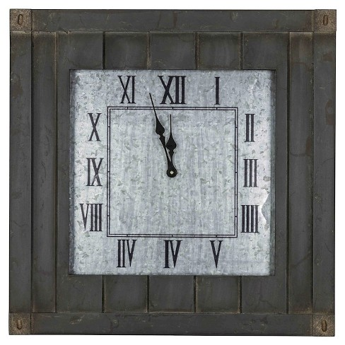 Rutledge Square Wall Clock Distressed Wood - Cooper Classics - image 1 of 2