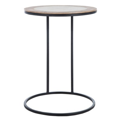 Gemma Agate Side Table Marble White - Safavieh